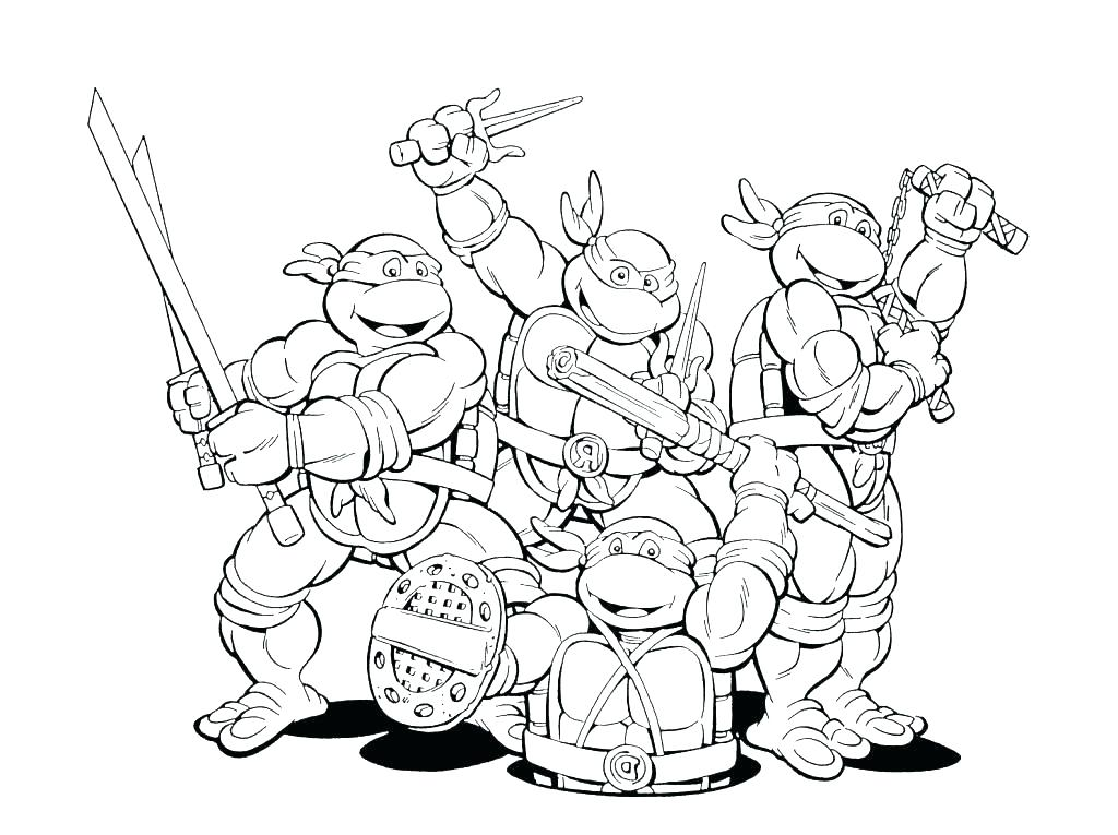 1024x765 Ninja Turtles Free Coloring Pages