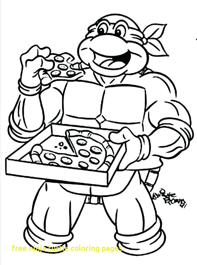 671x902 Free Ninja Turtle Coloring Pages With Teenage Mutant Ninja Turtles