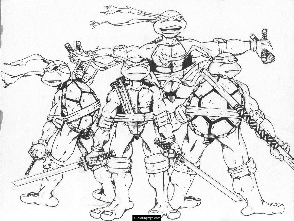 1030x775 Free Printable Coloring Pages Teenage Mutant Ninja Turtles