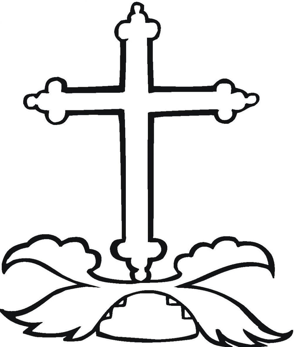 graphic relating to Printable Cross Pictures known as Absolutely free Printable Cross Coloring Webpages at