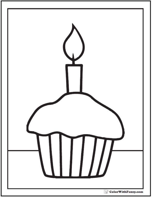 590x762 Cupcake Coloring Pages Customize Pdf Printables