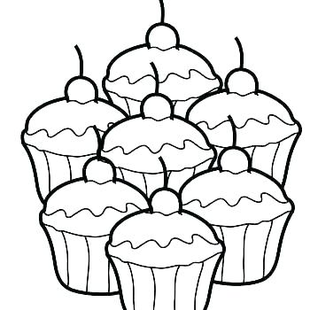 350x350 Cupcake Color Page Pretty Coloring Pages Cupcakes Free Download