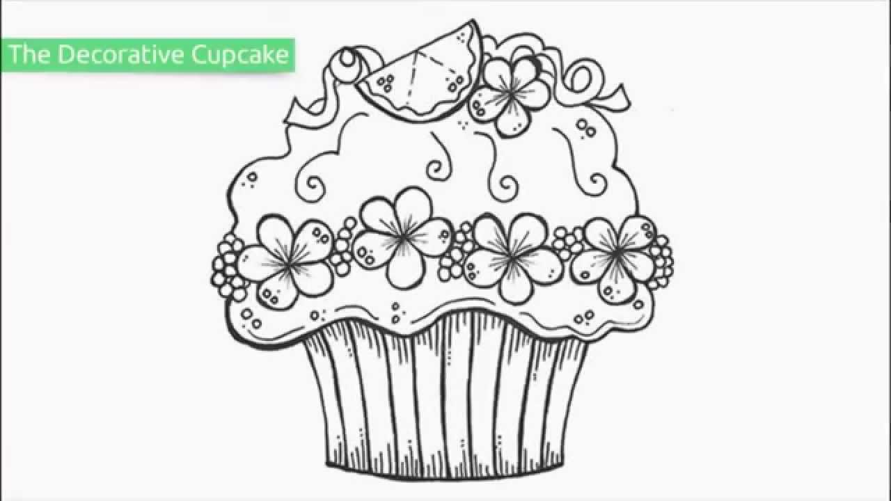 1280x720 Cupcake Coloring Pages