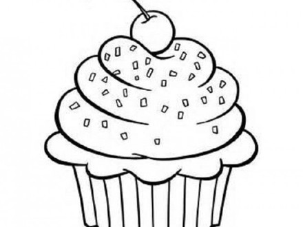 440x330 Cupcake Coloring Pages Free, Icolor Quotcupcakesquot