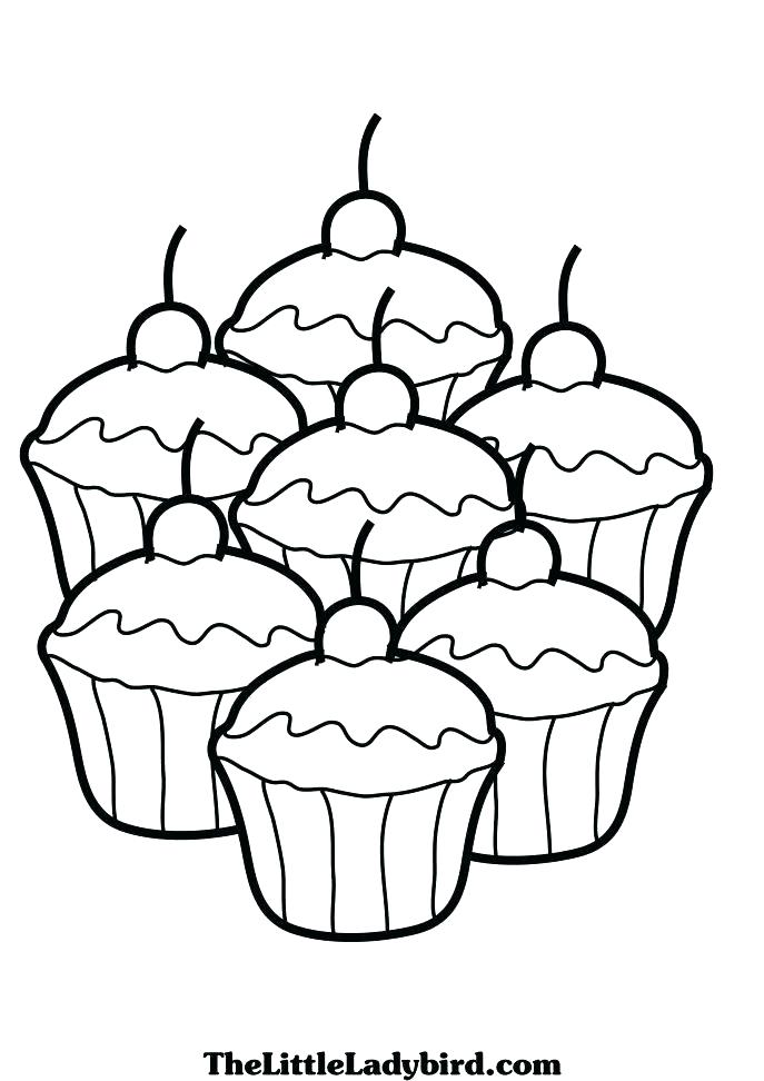687x972 Free Printable Cupcake Coloring Pages Coloring Pages Of Cakes