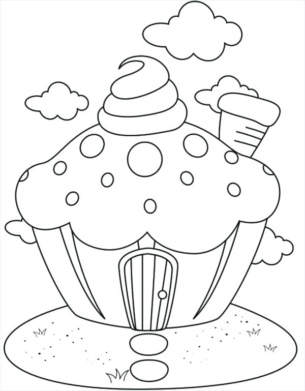 600x769 Free Printable Cupcake Coloring Pages For Kids Cupcakes Coloring