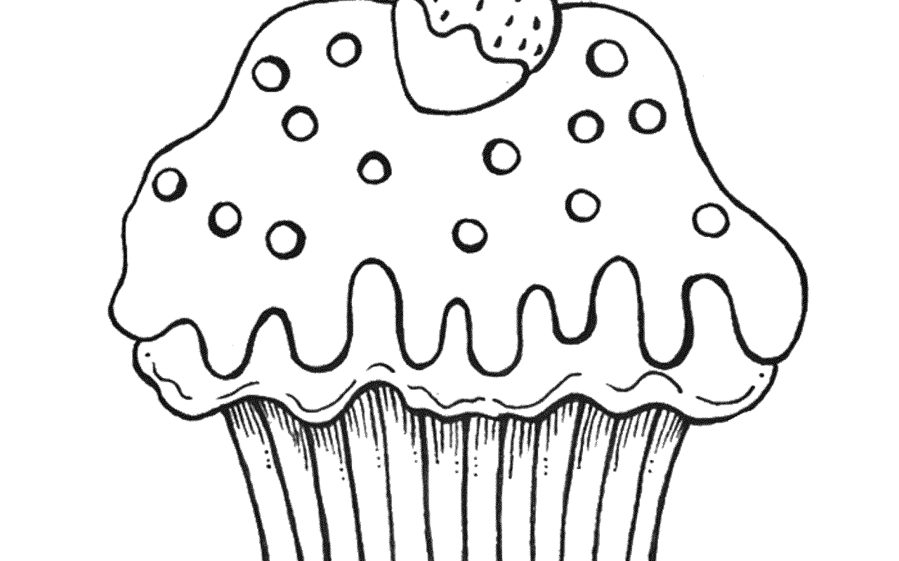 1280x800 Coloring Pages Of Cupcakes Printable Kids Cupcake Free Printables
