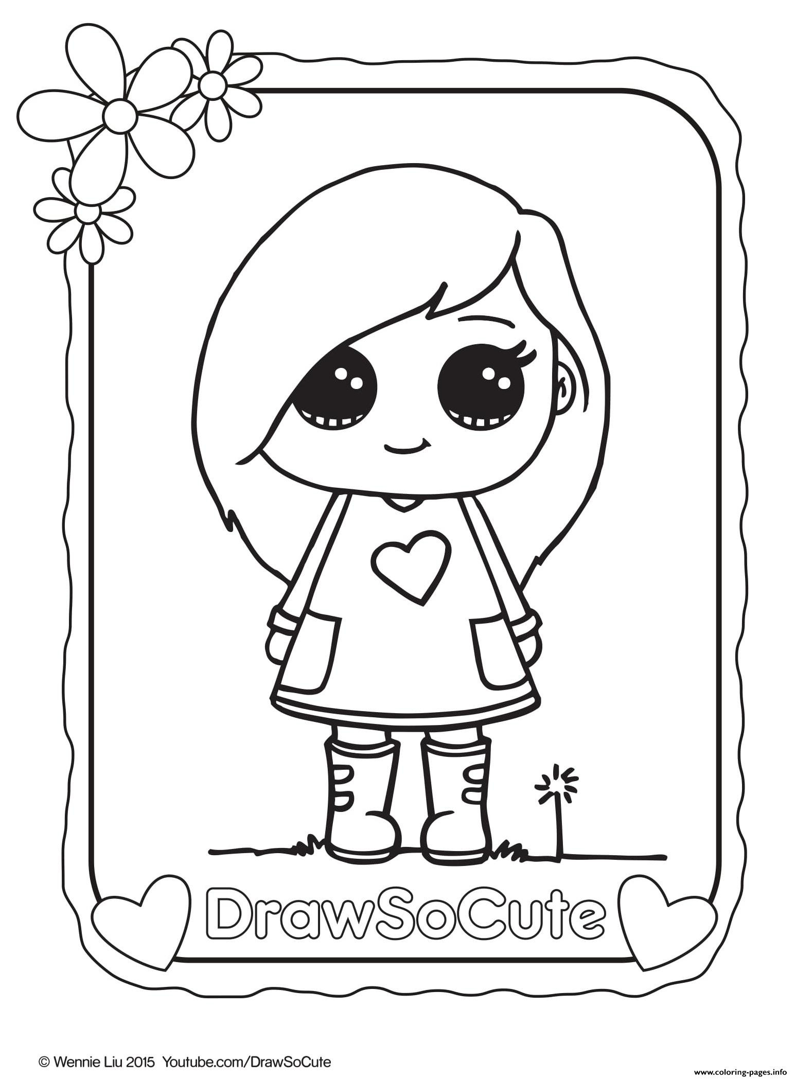 image regarding Cute Coloring Pages Printable identify No cost Printable Adorable Coloring Internet pages at  No cost