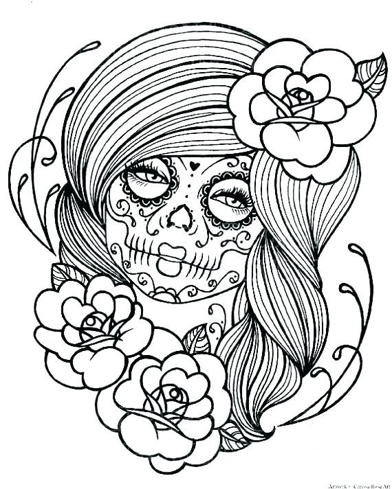 570x712 Day Of The Dead Mask Coloring Page Fun Free Printable Coloring