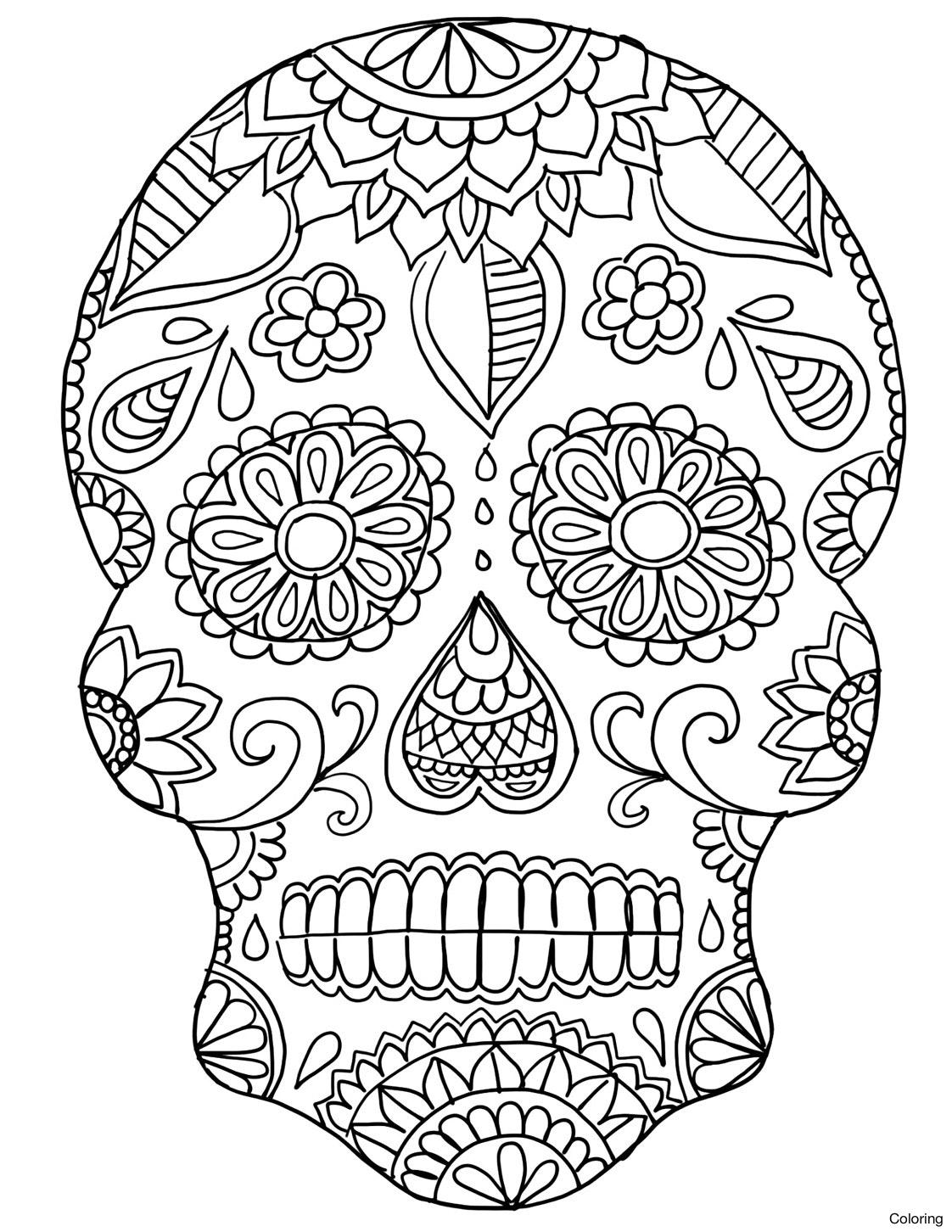 1122x1452 Dia De Los Muertos Coloring Pages