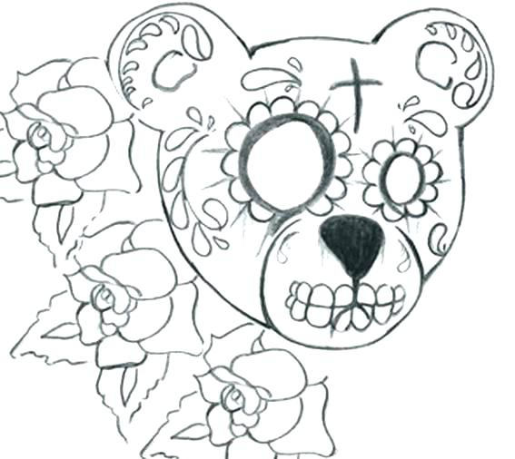 Free Printable Day Of The Dead Coloring Pages At Getdrawings Com