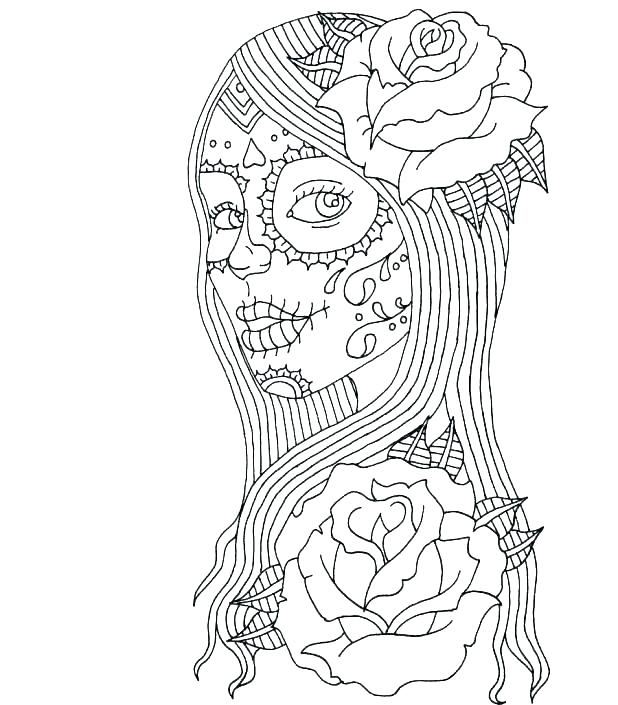 618x705 Grateful Dead Coloring Pages Day Of The Dead Coloring Free