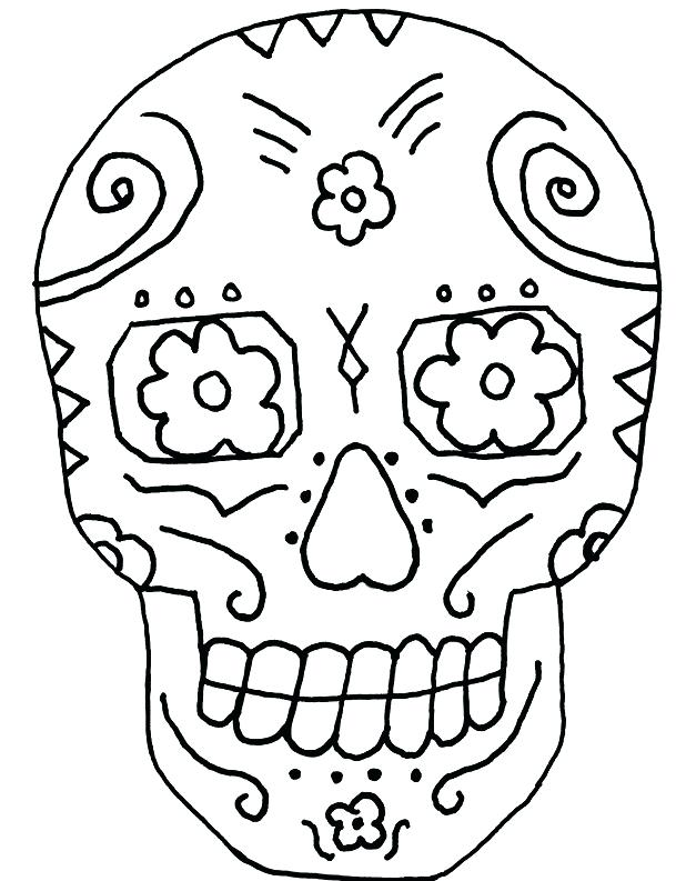 618x793 Day Of The Dead Art And Free Simple Sugar Skull Coloring Pages