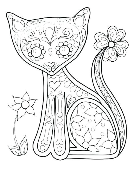 469x600 Day Of The Dead Coloring Free Printable Day Dead Coloring Pages