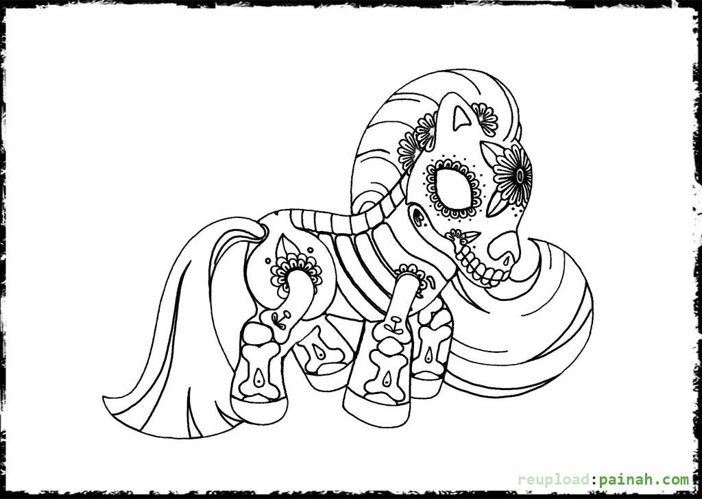 1024x728 Day Of The Dead Coloring Pages