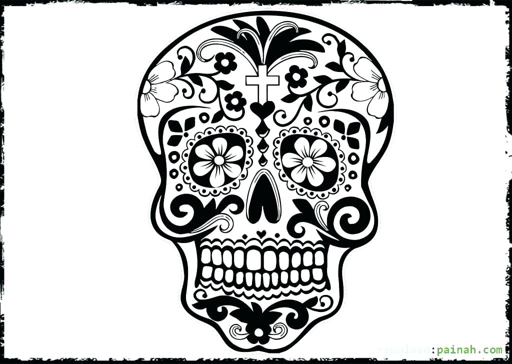1024x728 Day Of The Dead Coloring Sheets Free Printable Day Of The Dead