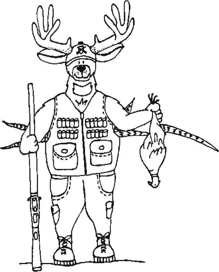 725x900 Printable Deer Hunting Coloring Pages