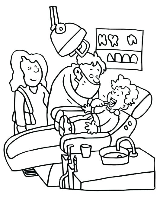 530x723 Dental Health Coloring Pages Dentist Coloring Print Coloring Free