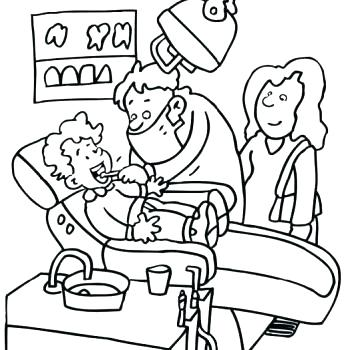 350x350 Dental Teeth Coloring Pages Dentist Coloring Page Dental Pages