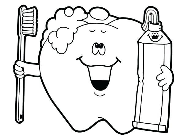 600x453 Free Printable Cool Free Printable Dental Coloring Pages