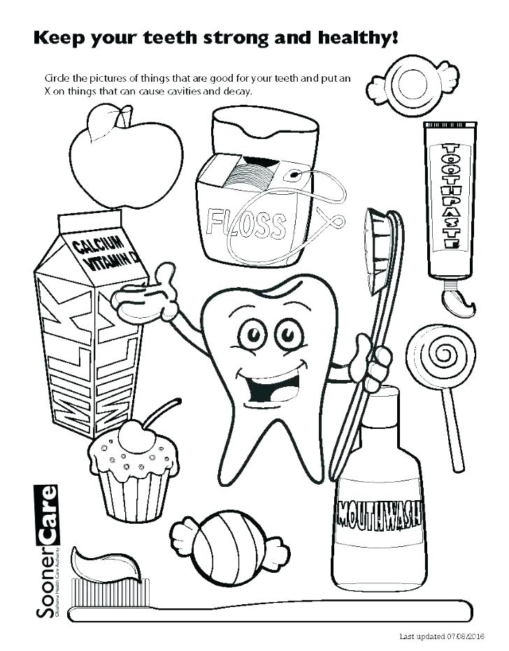728x932 Dental Coloring Pages Printable Dental Coloring Pages Happy Sad