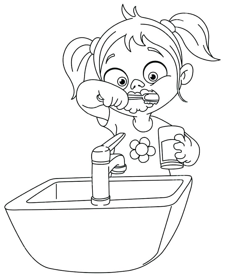728x896 Dental Coloring Sheets Tooth Coloring Pages Printable Free
