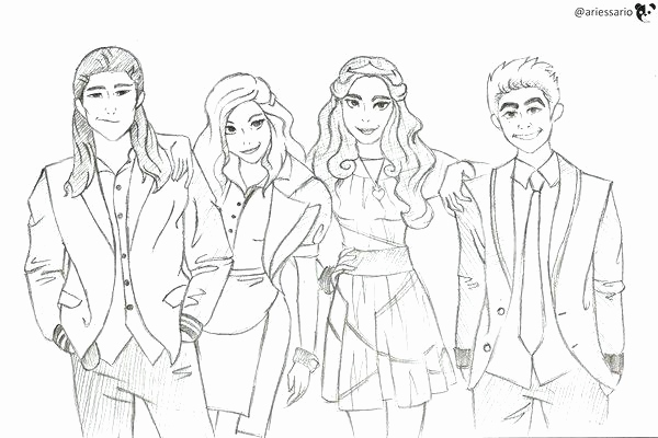 Free Printable Descendants Coloring Pages