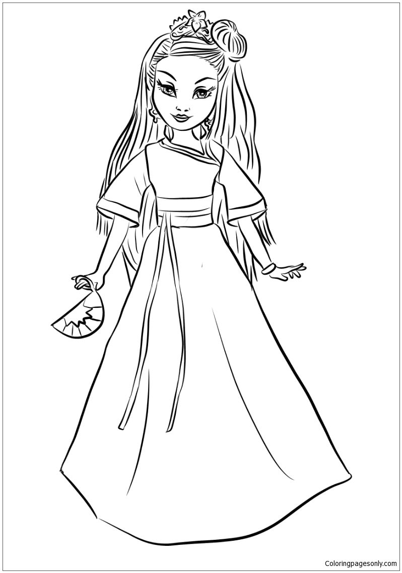 Free Printable Descendants Coloring Pages At Getdrawings Com Free