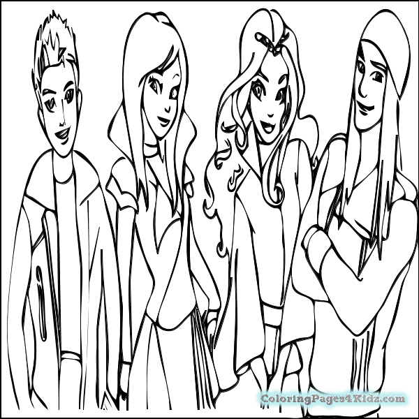 600x600 Mal Coloring Pages Mal From Descendants Coloring Page Free