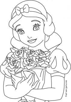 236x338 Free Printable Disney Princess Snow White Coloring Pages For Girls