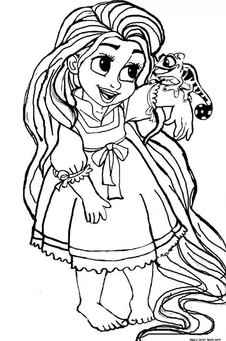 780x1172 Girls Princess Coloring Page Print Disney