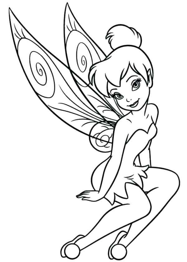 600x841 Coloring Pages Tinkerbell
