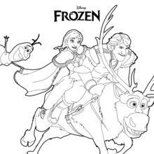 220x220 Frozen Coloring Pages