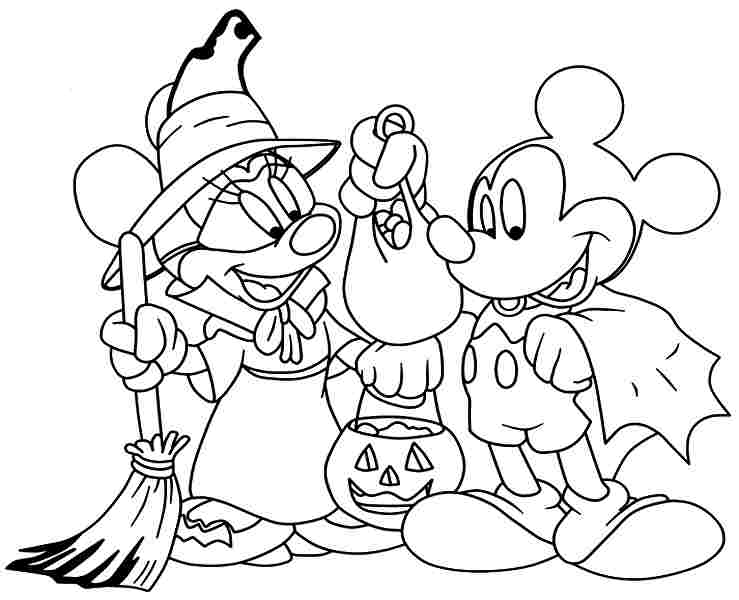 739x600 Halloween Coloring Pages For Girls Coloring Pages Cartoon Disney