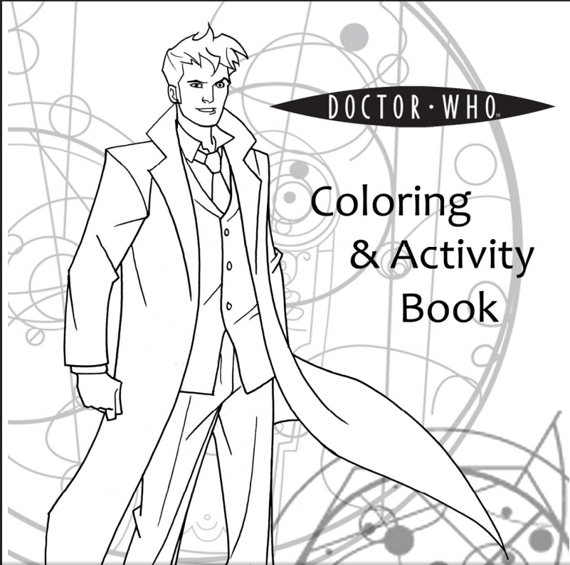 801x794 Free And Printable Page Doctor Who Coloring And Activity Book