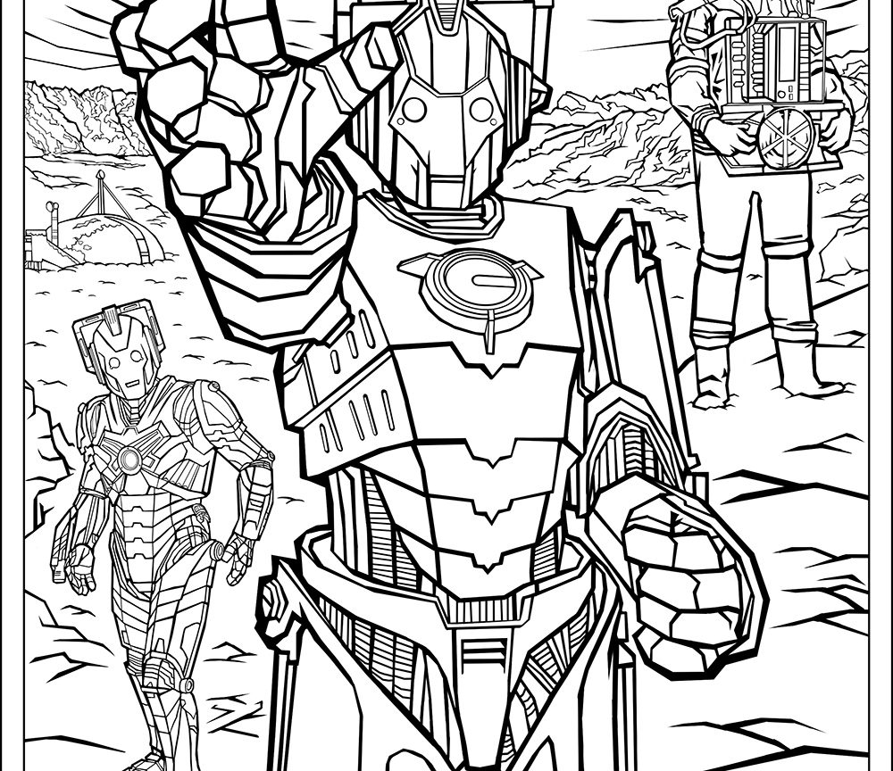1000x864 Official Doctor Who Tumblr Colouring In Packs Coloring Pages