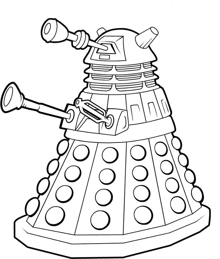 736x868 Doctor Who Coloring Page Quilting Craft