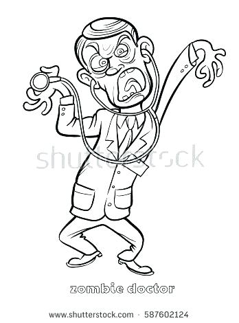 348x470 Doctor Who Coloring Page Doctor For Coloring Funny Zombie Doctor