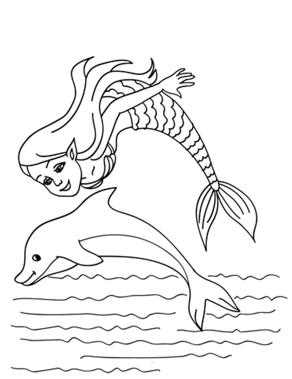600x777 Mermaid And Dolphin Coloring Pages Dolphin Coloring Page Dolphin