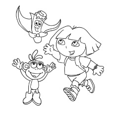 Free Printable Dora Coloring Pages at GetDrawings.com | Free ...