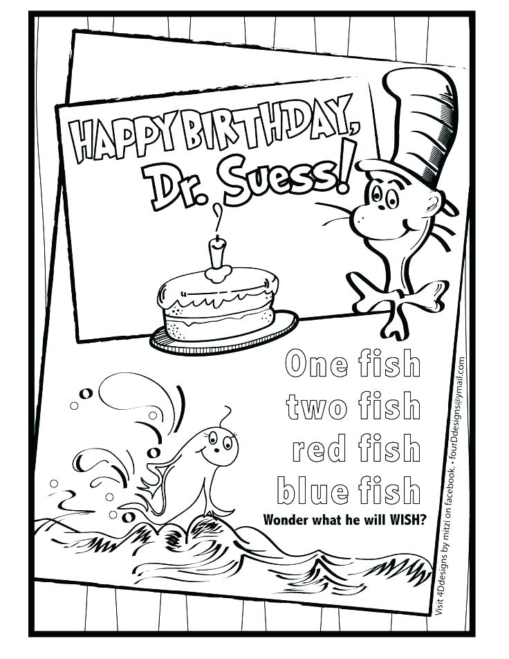 picture regarding Dr Seuss Happy Birthday to You Printable known as Absolutely free Printable Dr Seuss Coloring Webpages at