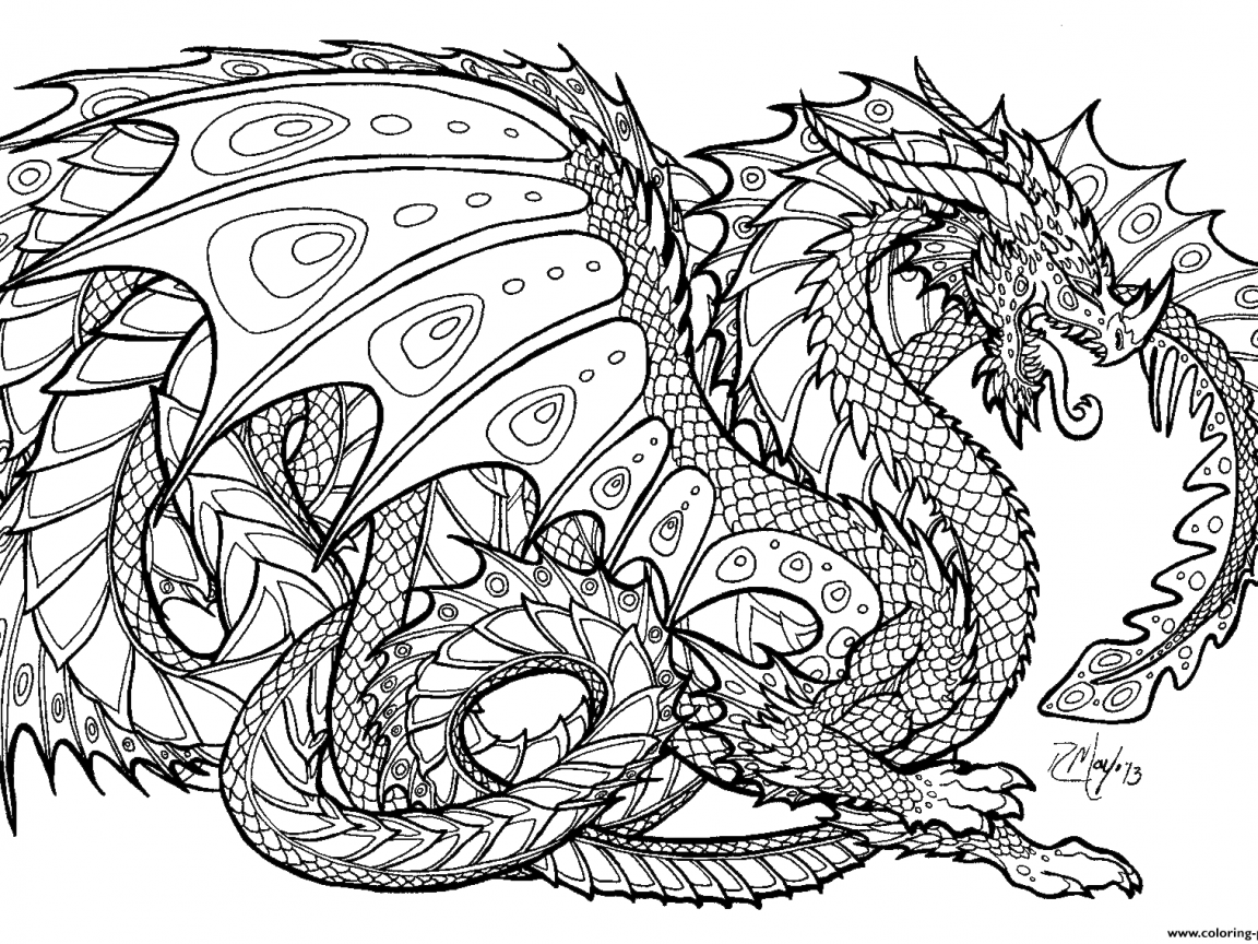 Free Printable Dragon Coloring Pages at GetDrawings   Free ...