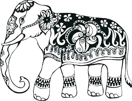 450x345 Free Elephant Coloring Pages Coloring Pages Of Elephants Free