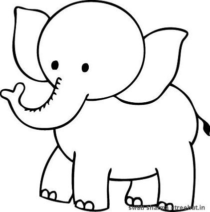 421x425 Printable Elephant Coloring Pages
