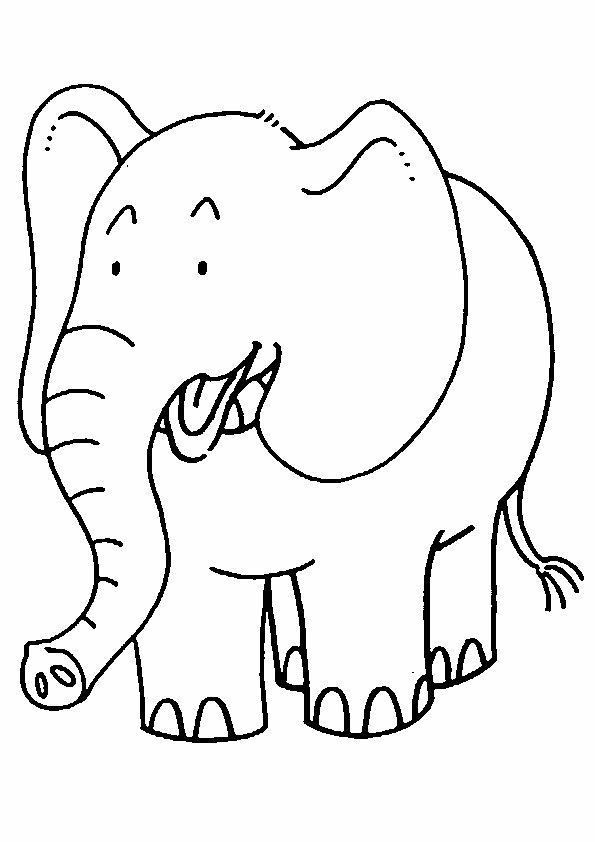 595x842 Top Free Printable Elephant Coloring Pages Online Free