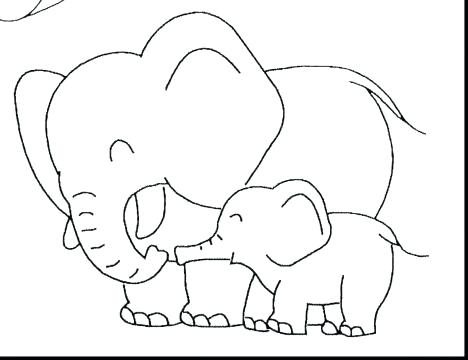 468x360 Baby Elephant Coloring Pages Cute Elephant Coloring Page Cute Baby
