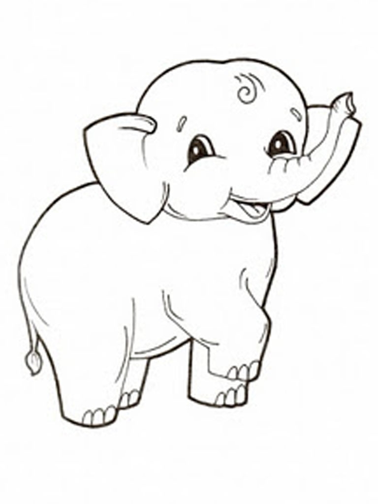 768x1024 Best Of Free Printable Elephant Coloring Pages For Kids