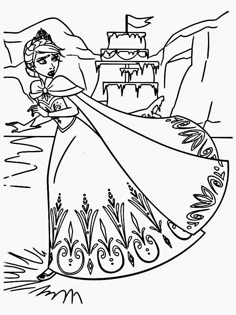 768x1024 Free Printable Frozen Coloring Pages For Kids