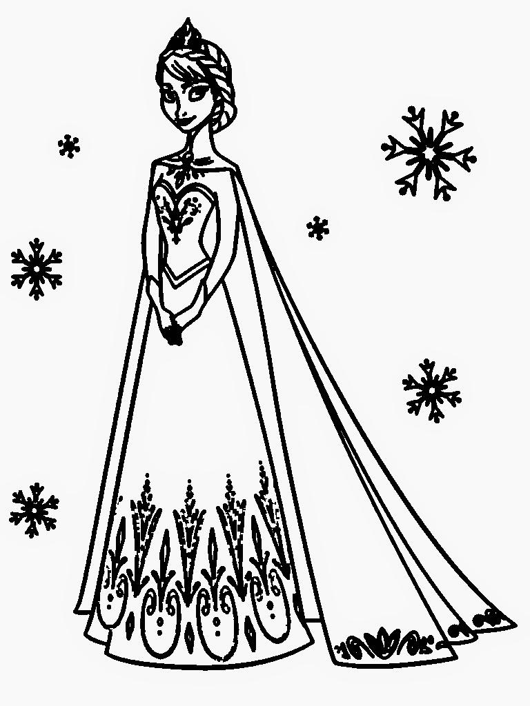 768x1024 Frozen Elsa Coloring Pages