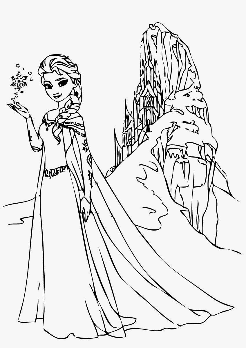 848x1200 Marvelous Elsa Coloring Pages Free Printable For Kids Best